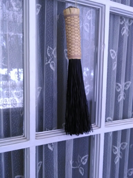 I bought this handmade broom at a local farmer's market
